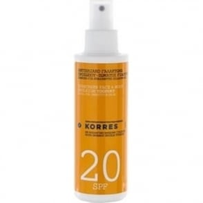 Korres Yoghurt Sunscreen Face & Body Emulsion SPF 20 For Sensitive Skin 150ml