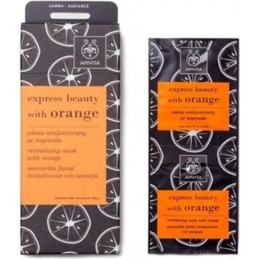 Express Beauty Revitalizing Mask With Orange 2x8ml
