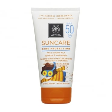 Face & Body Milk for Kids SPF50 with Apricot & Calendula (Marigold) 150ml