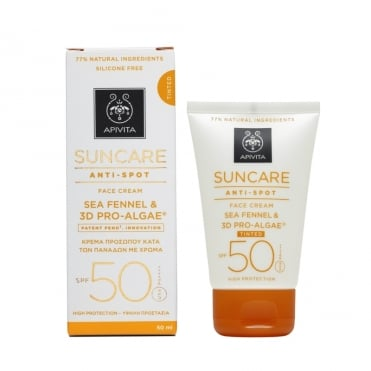 Suncare Antispot Tinted Face Cream SPF50 With Sea Fennel & 3D Pro-Algae 50ml
