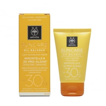Apivita Suncare Oil Balance Face Cream SPF30 With Immortelle & 3D Pro-Algae 50ml