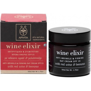 Wine Elixir Anti-Wrinkle & Firming Day Cream SPF 15 With Beeswax & Red Wine 50ml