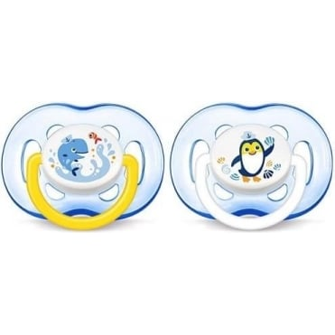 Freeflow Silicon Soother Blue 18m+ 2pcs