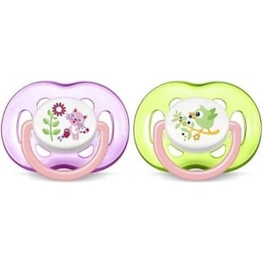 Freeflow Silicon Soother Pink 18m+ 2pcs
