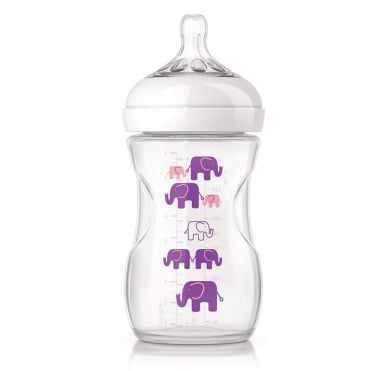 Natural Plastic Baby Bottle Purple 260ml