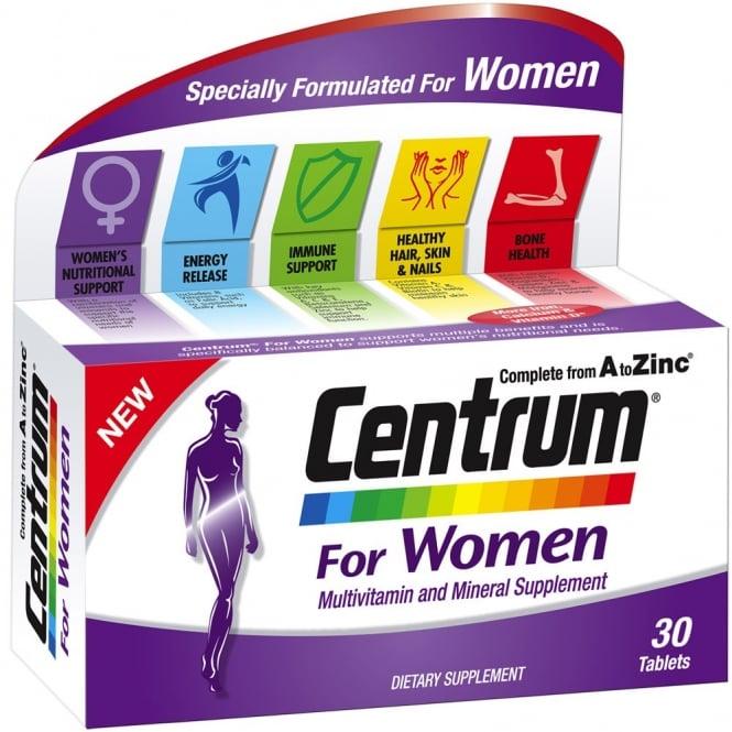 Centrum Women Multivitamin 30tbs Vitamins From Pharmeden Uk