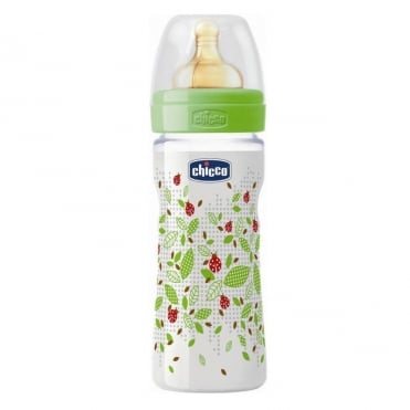 Well Being Plastic Bottle with Latex Teat of Adjustable Flow 250ml