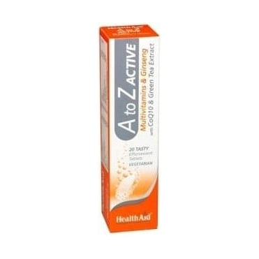 A to Z Active Multivit Effervescent 20tabs