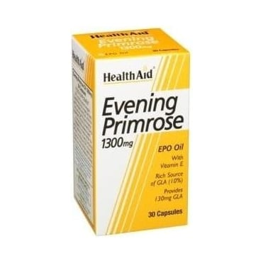 Evening Primrose Oil 1300mg & Vitamin E 30caps