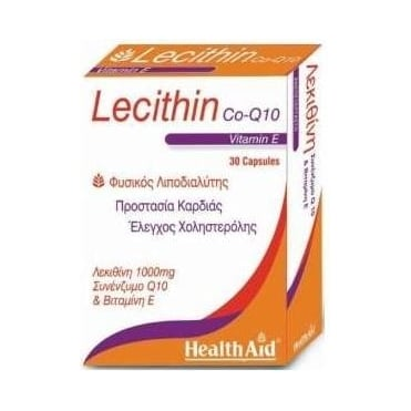 Lecithin 1000mg & co-Q10 & Natural Vitamin E 30caps