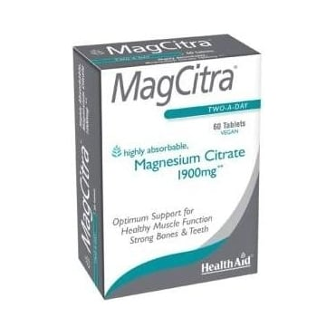 MagCitra Tablets (Magnesium Citrate) 1900mg 60tabs