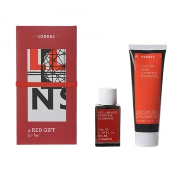 A Red Gift for Him Vetiver Root Green Tea Cedarwood 2 products