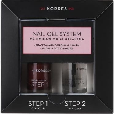 Nail Gel System Wine Red Nail Polish for Semipermanent Result 2x10ml