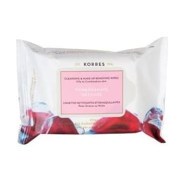 Pomegranate Face Cleansing Wipes 25pcs