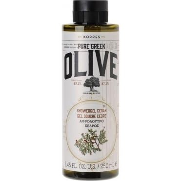 Pure Greek Olive Cedar Shower Gel 250ml
