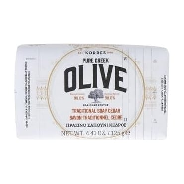 Pure Greek Olive Traditional Soap Cedar 125gr