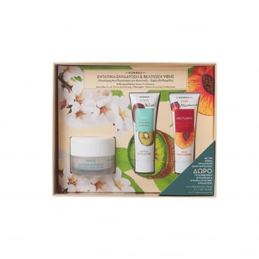 Set Moisturising Almond Blossom Cream Normal/Dry Skin 40ml & FREE Scrub Kiwi 18ml & Nectarine Mask 18ml