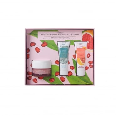 Set Pomegranate Cream-Gel 40ml & FREE Green Clay 18ml & Grapefruit 18ml Masks