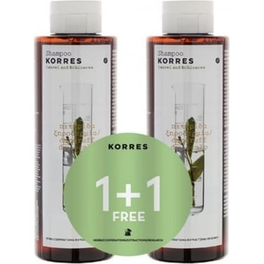 Shampoo for Dandruff & Dry Scalp with Laurel & Echinacea 250ml & 1 FREE