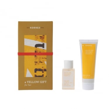 Yellow Gift for Her White Tea Bergamot Freesia 2 Products