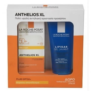 Gift Set Anthelios XL Ultra Light Fluid Spf50 Scented 50ml & FREE Lipikar Gel Lavant 100ml
