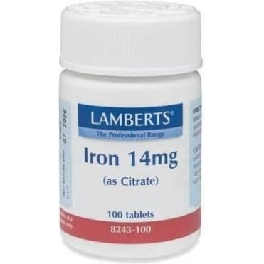 Iron (As Citrate) 14mg 100tbs