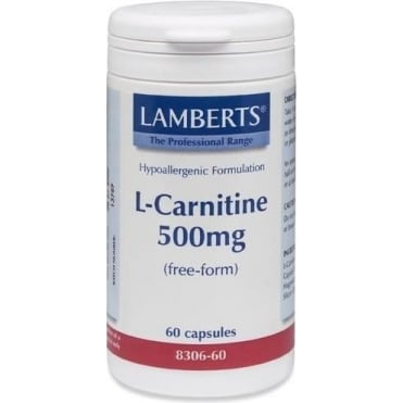 L-Carnitine (Free-Form) 500mg 60caps