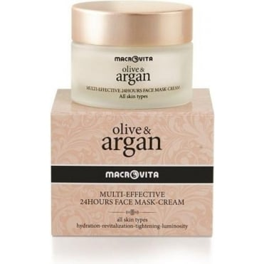 Olive & Argan Multi-Effective 24h Face Mask-Cream 50ml