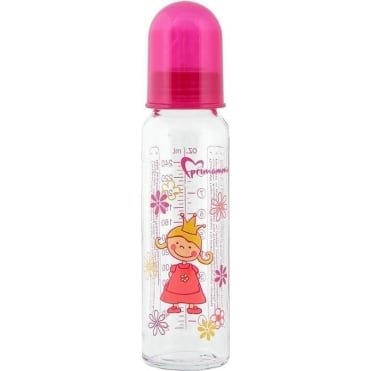 Primamma Glass Bottle with Silicone Teat 0m+ 250ml