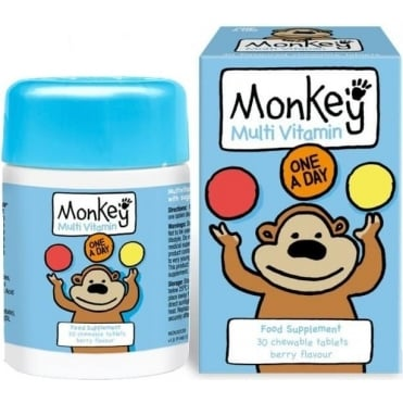 Monkey MultiVitamin Berry Flavour 30chew.tabs