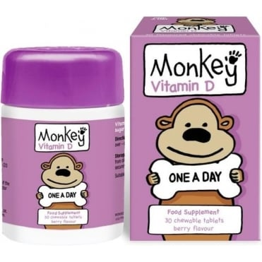 Monkey Vitamin D Berry Flavour 30chew.tabs