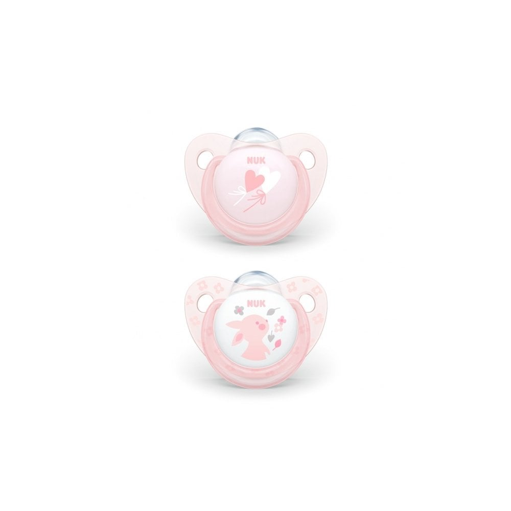 original set Nuk baby rose and blue trendline orthodontic silicone dummy ball