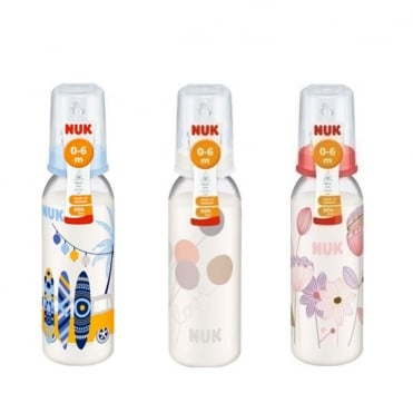 Classic Plastic Bottle with Silicone Teat 0-6m 240ml