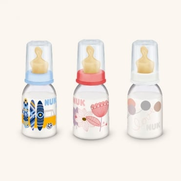Classic Plastic Bottle with Teat Latex 0-6m 110ml