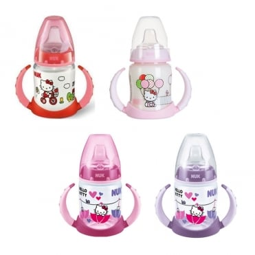 First Choice Plus Bottle PP Hello Kitty Training with 2 Handles 150ml