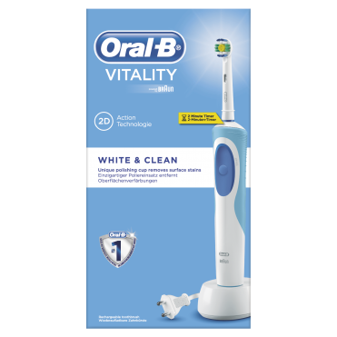 Vitality White & Clean Electric Rechargeable Toothbrush