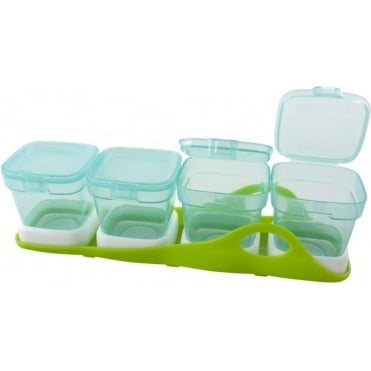 Primamma Set Storage and Freezer Containers with Base (4in1)