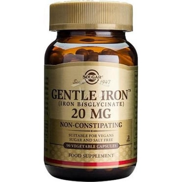 Gentle Iron 20mg 90vegcaps