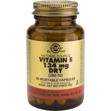 Vitamin E 200IU Dry 50 Vegicaps