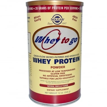 Whey To Go Milk Protein Powder Vanilla 340gr