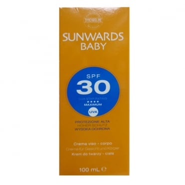 Sunwards Baby SPF30 Face and Body Cream 100ml
