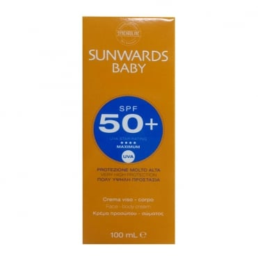 Sunwards Baby SPF50+ Face and Body Cream 100ml